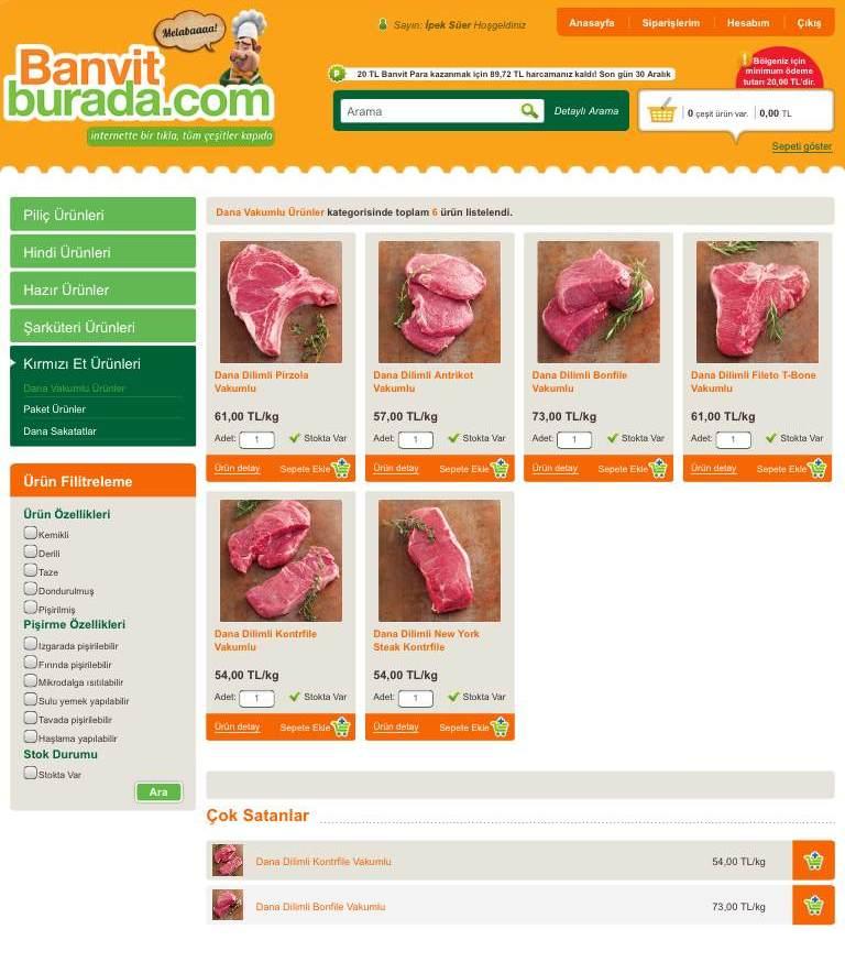 Banvit'te kırmızı et çeşitleri